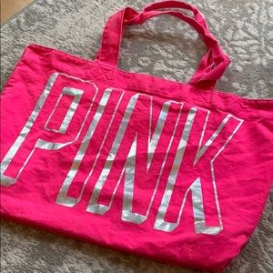Extra large Victoria's Secret pink tote